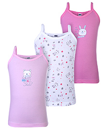 Simply Singlet Slips Set Of 3 - Pink White And Dark Pink