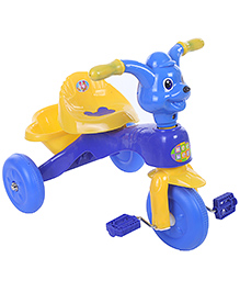 Mee Mee Musical Tricycle With Rear Basket - Blue And Yellow