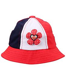 Babyhug Summer Cap Heart Applique - Red