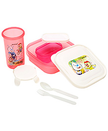 Pratap Hungry Time Lunch Set(pink)