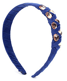 Addon Hairband Stone Embellishment - Navy Blue