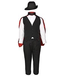 Gvavas Magician Fancy Dress Costume Set Of 5 - Black And White