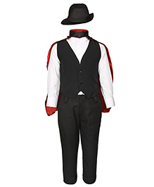 Gvavas Magician Fancy Dress Costume Set Of 5 - Black And White