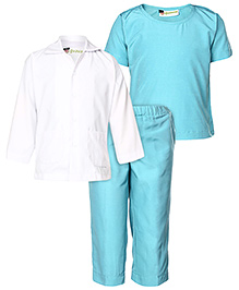 Gvavas Doctor's Scrubs Fancy Dress Costume - Blue And White