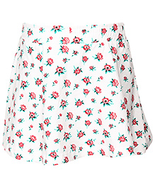 Palm Tree Skirt Floral Print - White And Red
