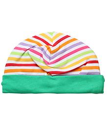 1st Step Baby Ear Cover Bonnet Fruit Print - Green