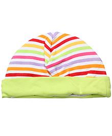 1st Step Baby Ear Cover Bonnet Fruit Print - Pale Green