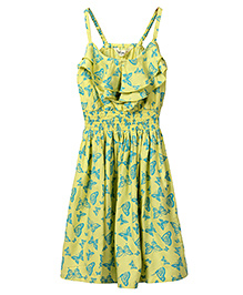 Beebay Singlet Butterfly Print Sundress - Yellow