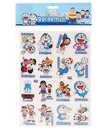 Doraemon Puffy Zoom A4 Sticker - Mutlicolour