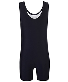 Champ Sleeveless One Piece Leg Swimsuit - Black