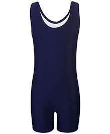 Champ Sleeveless One Piece Leg Swimsuit - Navy Blue