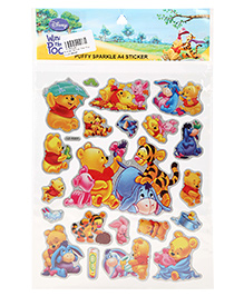 Winnie The Pooh Puffy Sparkle A4 Sticker