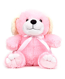 IR Dog Soft Toy Cream And Pink - Height 37 cm