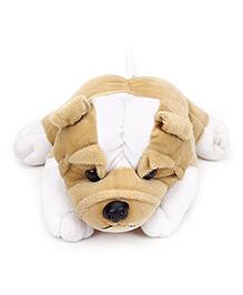 IR Bull Dog Soft Toy Light Brown - Length 19.5 cm