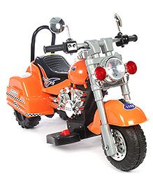 Battery Operated Bike Ride On Brave Print - Orange