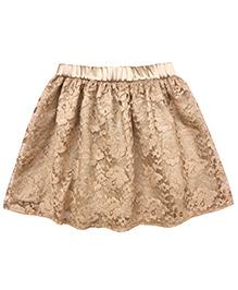 Campana Lace And Satin Skirt - Golden