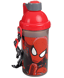 Spider Man Sipper Bottle Red And Grey - 450 ml