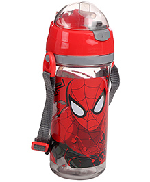 Spider Man Sipper Bottle Red And Grey - 550 ml