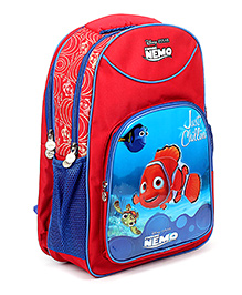 Nemo Printed School Bag Red And Blue - 18 Inches