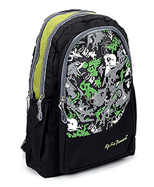 LA Plazeite Backpack Green And Black - 18.5 Inches