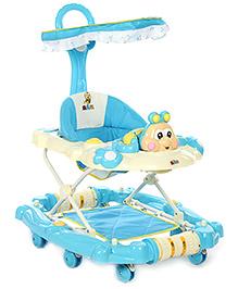 Baby Walker Cum Rocker Honey Bee Design - Blue