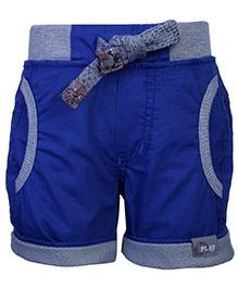 Little Kangaroos Drawstring Shorts - Royal Blue