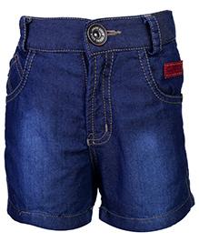 Little Kangaroos Denim Shorts Lilk Patch - Dark Blue