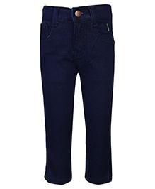 Babyhug Jeans Embroidered Logo - Navy Blue