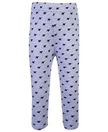 Fox Baby Leggings Heart Print - Grey