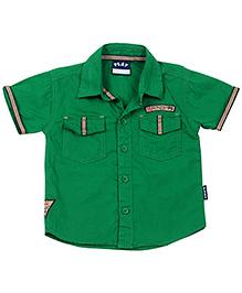 Little Kangaroos Half Sleeves Shirt Lilk Patch - Green