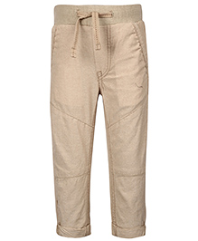 Fox Baby Trouser With Drawsrting - Beige