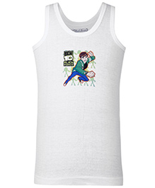 Ben 10 Sleeveless Vest - White
