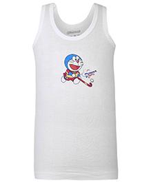 Doraemon Sleeveless Vest - White