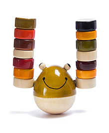 Oodees Wooden Stacking And Balancing Game Froggy Candy