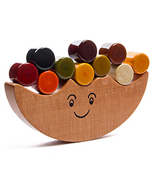 Oodees Wooden Balancing Game Dumroo - Multi Color