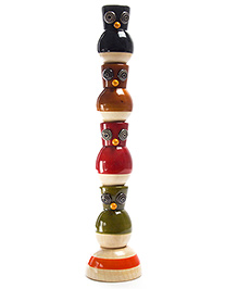 Oodees Wooden Stacking and Balancing Toy Ullu Dullu