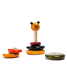 Oodees Wooden Stacking Toy Bonobo - Multi Color