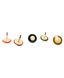Oodees Wooden Tops - Set of 5