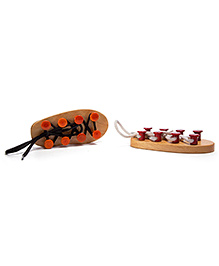 Oodees Wooden Shoes - Orange And Red