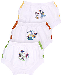 Oggy & Cockroaches Briefs Multi Print Set of 3 - White
