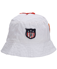 Babyhug Bucket Cap Embroidered Patch - White