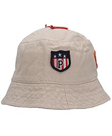 Babyhug Bucket Cap Embroidered Patch - Cream