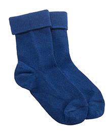 NeedyBee Socks With Fold - Dark Blue