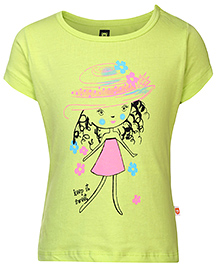 Baby League Short Sleeves Top Doll Print - Neon Green