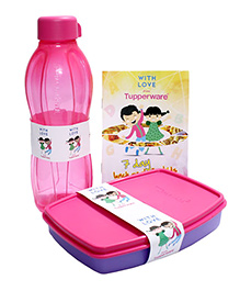 Tupperware Small Lunch Box And Aquasafe Bottle Set - Pink