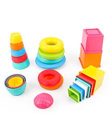 Funskool Stack N Nest Toy Set 3 In 1 - Multi Color