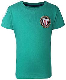 Palm Tree Half Sleeves T-Shirt Football League Logo Patch - Green