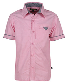 Bells and Whistles Half Sleeves Shirt - Pink