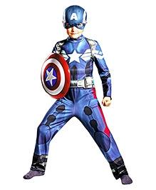 Captain America Movie 2 Classic Costume - Navy Blue