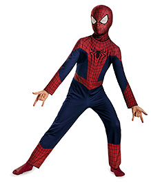 Spiderman Theme Party Costume - Dark Blue And Red